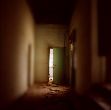 """Doors best left unopened? A photograph from Giordano's """"Palace"""" series."""