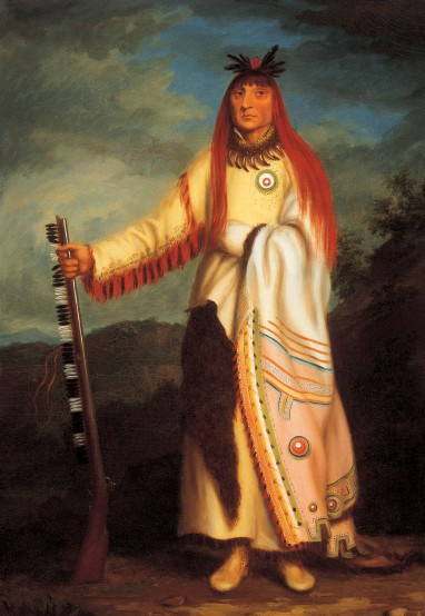Charles Bird King, Wanata (The Charger), Grand Chief of the Sioux, ca. 1826. Oil on canvas, 39 x 27 1/4 inches. Tacoma Art Museum, promised gift of Erivan and Helga Haub.