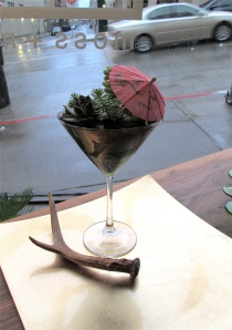 """The Plantini"", a botanical cocktail at Moss + Mineral"