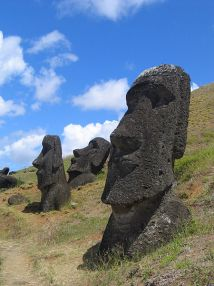 Stony silence on Easter Island (Rapa Nui). Photo: Aurbina