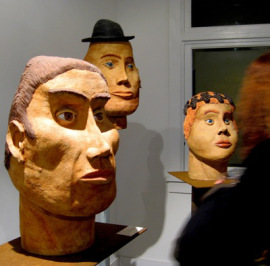 Larger than life: busts by Claudia Riedener.