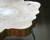 Live-edge table by birdloft. Photo courtesy of the artists