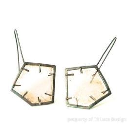 Mica and sterling silver earrings by Di Luce Design. Photo courtesy of the artist