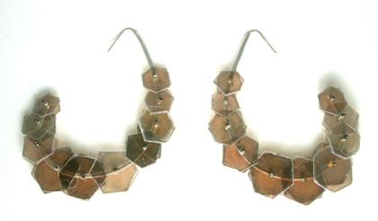Mica and sterling earrings by Jennifer Lawrence Bennett. Photo courtesy of the artist