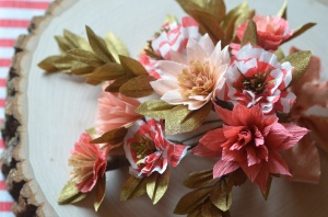 The vintage romance of paper flowers. Photo: Laurie Cinotto